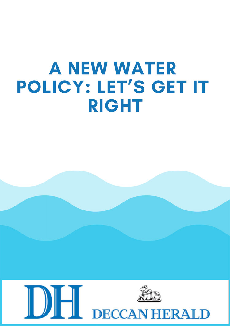 A new water policy: let's get it right