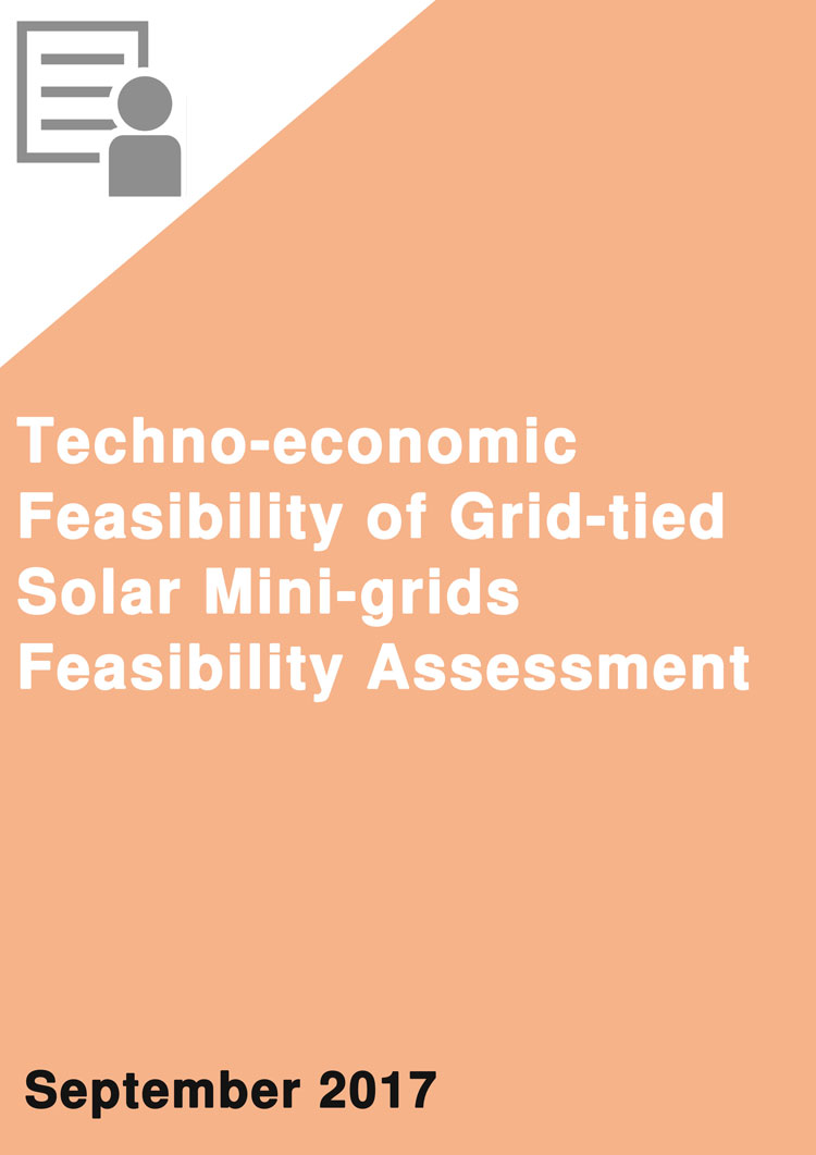 Techno-Economic Feasibility of Grid-Tied Solar Mini-Grids