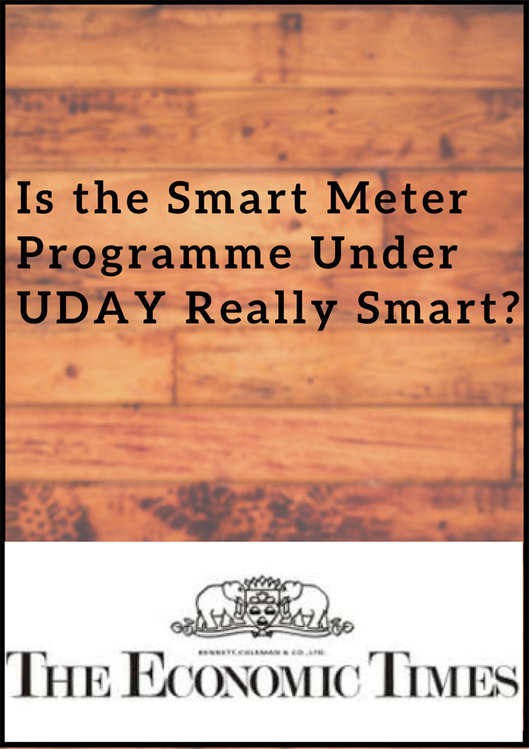 Is the Smart Meter Programme Under UDAY Really Smart?