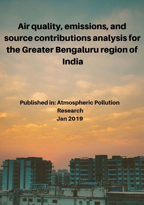 Air quality, emissions, and source contributions analysis for the Greater Bengaluru region of India