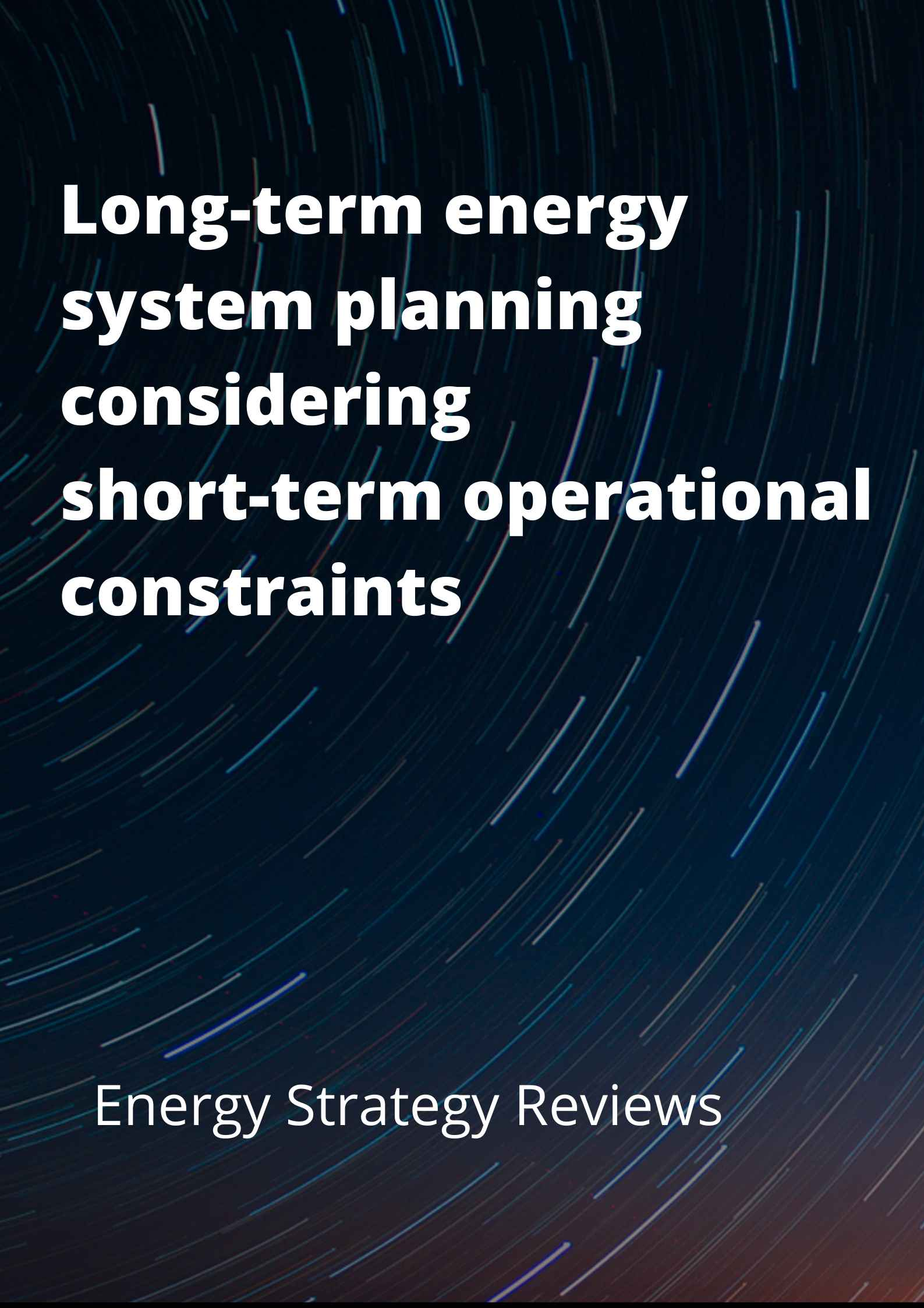Long-term energy system planning considering short-term operational constraints