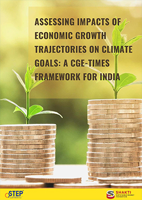 Assessing Impacts of Economic Growth Trajectories on Climate Goals: A CGE-TIMES Framework for India