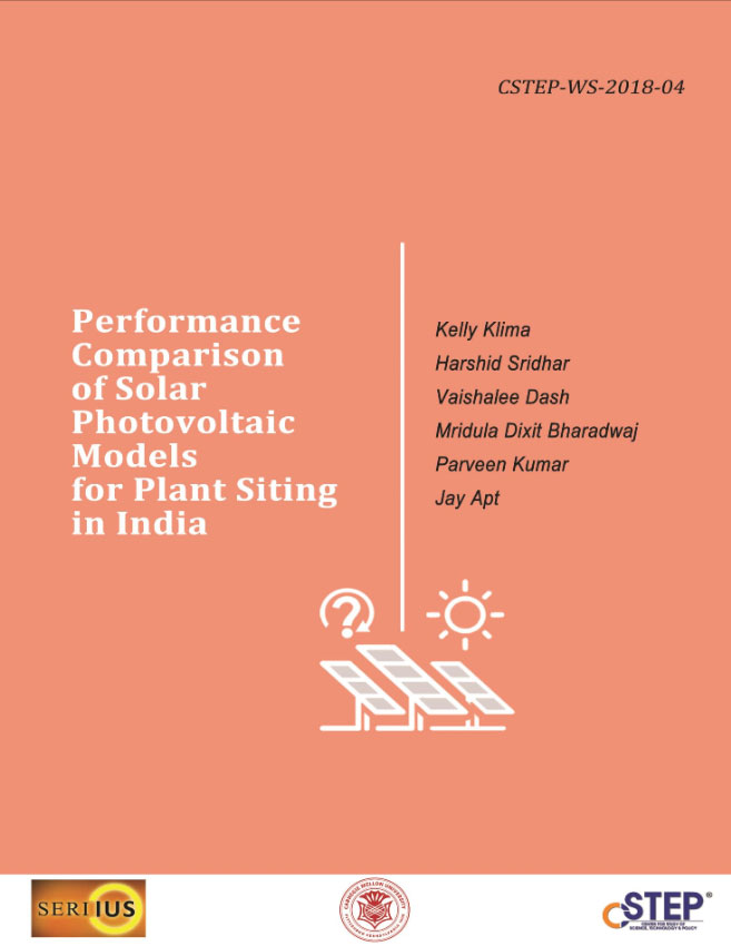Performance Comparison of Solar Photovoltaic Models for Plant Siting in India